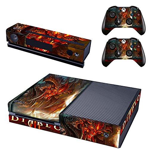 Preisvergleich Produktbild XBox One und Kamera + 2 Controller Aufkleber Schutzfolie Set - Diablo 3 / XBox One