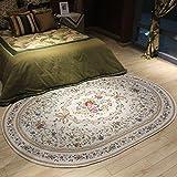 LYM #Wohnzimmer Teppich Ovaler Teppich europäischen Wohnzimmer/Couchtisch / Sofa/Schlafzimmer / Bett Teppich (160 * 230cm) Matten (Farbe : B, größe : 160 * 230cm)