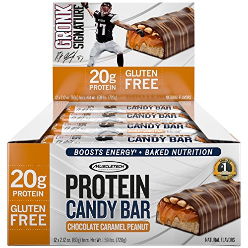 Muscletech Protein Candy Bar Chocolate Caramel Peanut, 720 g Candy Tech