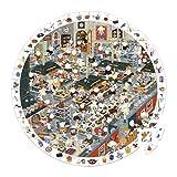 Janod Spielzeug - Puzzlekoffer Rundpuzzle Großküche 208 Teile - Puzzle und Poster mit Suchspiel, Mehrfarbig in