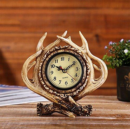 American Retro Deer Uhr Ornamente Kreative Alten Hause Wecker Bar Cafe Praktische Dekorationen...
