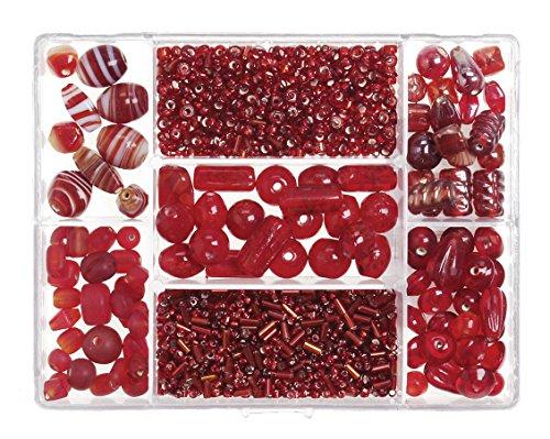 Jewelry Box Designer glassbead 110Gramm, rot