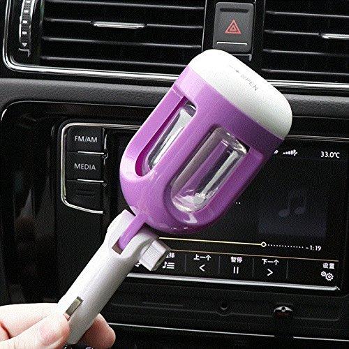 Genghuihui Sieben Farbe Lampe Fahrzeug Luftbefeuchter Auto Mit Spray Duft Zerstäuber Mute Luftbefeuchter, Lila [Luftbefeuchter]