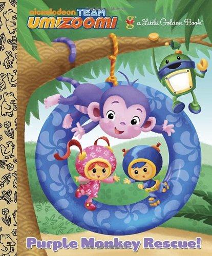 Purple Monkey Rescue! (Team Umizoomi) (Little Golden Books)