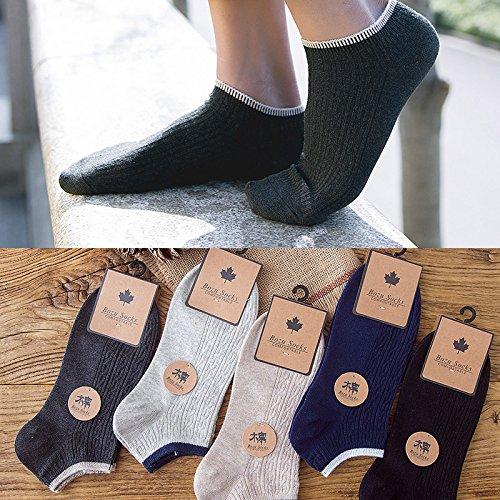 5 Paar Herren Socken Boot männlichen Sommer unsichtbaren flachen Socken Baumwolle Casual Sport socks niedrig Hilfe dünne Socken