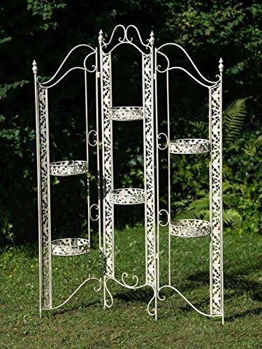 aubaho Pantallas Biombo Trellis cesta colgante maceta de flores de hierro 16kg estilo