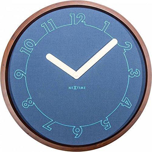 NexTime 3199.0 Calmest Horloge Bois Turquoise 50 x 50 x 4,5 cm