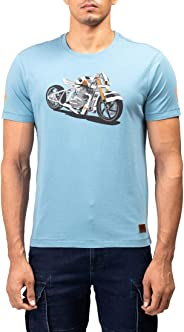 Royal Enfield Teal Cotton T-Shirt for Men Size (XL) 44 CM (RLATSL000130)