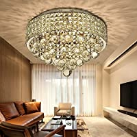 N3 lighting Ø40CM Premium 6-LIGHTS G9 Modern Elegant Round Ceiling Light Pendant Fixture Lighting Crystal Chandelier