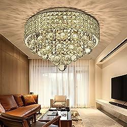 N3 lighting Ø40CM Premium 6-LIGHTS G9 Modern Elegant Round Ceiling Light Pendant Fixture Lighting Crystal Chandelier