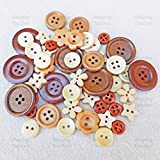 50 Mix natur Shabby Chic Holz Tasten Craft