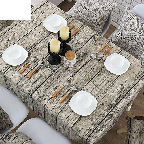 TRE tela del paño de la mesa de grano de madera vintage/Algodón...