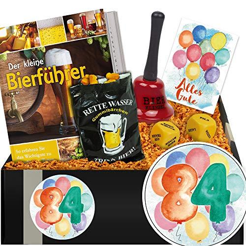 (Zum 84. Jubiläum | Geschenk Paket Bierfreuden | Geschenke 84. Geburtstag Mann)
