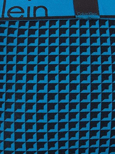 Calvin Klein Herren Badehose Mehrfarbig (Geo Square Blue Pulse)