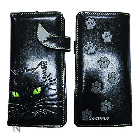NEMESIS LUCKY KITTY BLACK CAT VEGAN PURSE WALLET NEMESIS NEW PAGAN WITCH GIFT BEDLAM