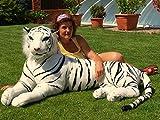 Plüsch Tiger Familie Mama 2 Meter gross Stofftier Plüschtier Kuscheltier weiß