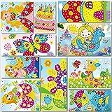 Lizipai Kit Adesivi per Mosaico appiccicoso per Bambini, 10 Immagine separata per Mosaico Adesivo Fatto a Mano per Bambini