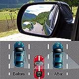 Auto punto cieco specchio, laptop convesso grandangolare 360gradi rotante regolabile stick sul retrovisore parcheggio specchio per tutte le auto SUV camion moto [2pezzi]