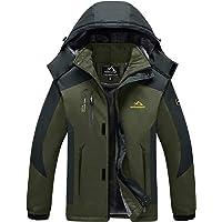 MAGCOMSEN Men's Outdoor Fleece Jacket Winter Waterproof Warm Ski Mountain Jackets with Hood