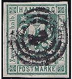 Goldhahn Hamburg Nr. 9 gestempelt Geprüft Briefmarken für Sammler