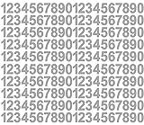 200 Klebezahlen je 20 x 1 - 0, je ca. 3cm hoch, in 11 verschiedenen Farben lieferbar, Aufkleber, Klebezahlen, Sticker (30mm grau)
