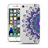 HULI Design Case Hülle für Apple iPhone 7 Smartphone mit Ornament Muster - Schutzhülle Silikon für Dein Handy mit orientalischem Mandala Sonnenmuster Henna Orient - Handyhülle durchsichtig mit Druck