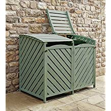 Sage Green Double Wheelie Bin Storage