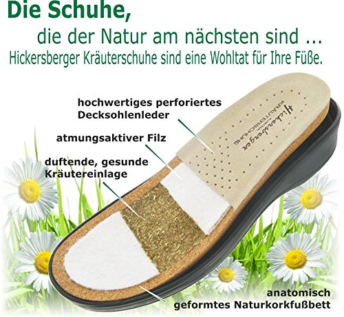 Hickersberger Kräuterschuhe Damen VARIO-Pantolette Weiß