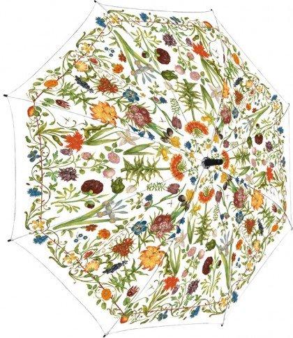 Stockschirm Regenschirm Gartenblumen