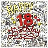 Musik Karte zum 18. Geburtstag 029B
