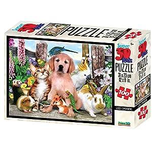 MAGNI-de Mascotas Puzzle 3D 100Piezas, 2528