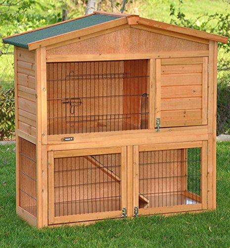 nanook clapier cage lapin en bois Flocon 2 étages - jolies couleurs - bois  naturel - 2dca258e1bf9