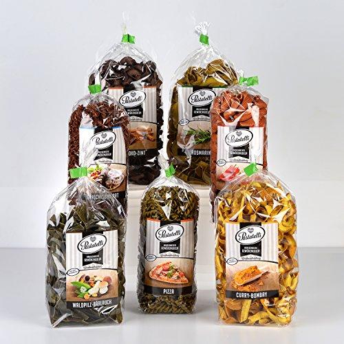 Pastatelli Feinschmecker-Pasta Geschenkpaket ★ Gewürz-Nudeln Geschenkbox im Gourmet-Paket ★ Nudel Präsent-Kiste für Frauen und Männer zum verschenken