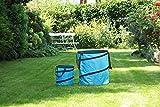 1PLUS Pop Up Sack, Spielzeugsack, Gartensack, Wäschesack 85 und 15 Liter, in verschiedenen Farben (Blau)