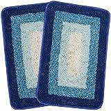 Saral Home Soft Cotton Anti Slip Bathmat, 35 x 50cm(Turquoise)