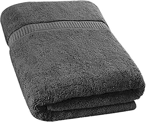 Utopia Towels - Badetuch groß aus Baumwolle 600 g/m² - Duschtuch, 90 x 180 cm (Grau)