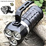JXSHQS Taschenlampe SD01 Profi-Tauchtaschenlampe Cree XPL 3000LM LED-Unterwassersuchscheinwerfer...