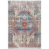 GJIF Alfombra Rectangular Lavable de la Alfombra turca del Vintage Adecuada para el Dormitorio de la Sala de Estar - 0,8 cm (Color : #006, Tamaño : 140X200cm)
