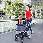 IbiyayaExpress Travel System Denim Pet Stroller 21