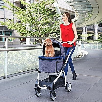 IbiyayaExpress Travel System Denim Pet Stroller 10