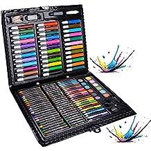 Lapices de Colores, Legendog 150 piezas de Lápices de Cera Profesionales Ceras Colores Conjuntos de Pintura Estuche Pinturas para Niños