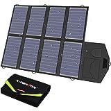 X-DRAGON Bärbar solpanel 40 W solkraft solpanel vikbar solpanel med USB-laddare för mobiltelefon smartphone powerbank kamera