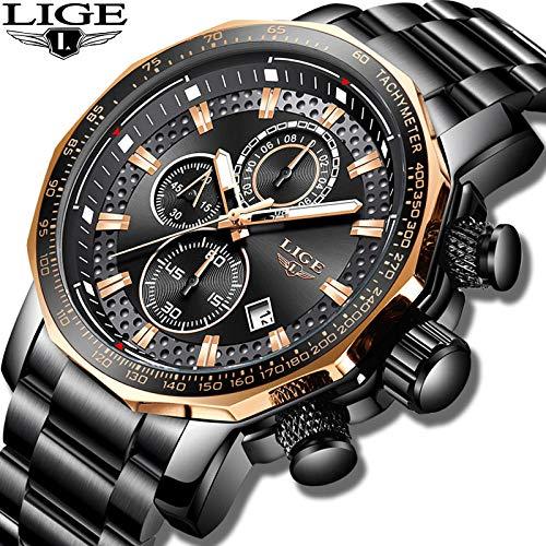 Nuevo 2019 Lige Mens Relojes Top Brand Luxury Sports Quartz All Steel Hombre Reloj Militar Impermeable...