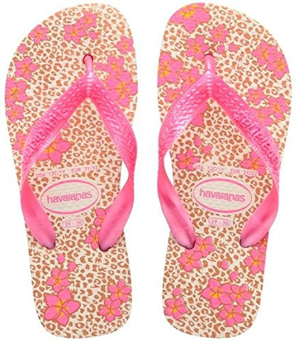Havaianas Flores, Sandales Plateforme Fille - Rose (white/orchid Rose 8622) - 29/30 EU (Taille fabricant: 27/28 BR)