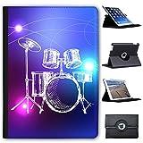 Lineart 5-teiliges Schlagzeug mit Becken Case Cover / Folio aus Kunstleder für das Apple iPad AIR (1st Generation)