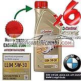 Castrol Edge - 6 litros de aceite de motor 5W30 FST VW 504.00 BMW Longlife 04.