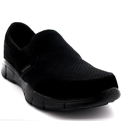 skechers memory foam mens. mens skechers equalizer persistent memory foam walking running trainers - black 8