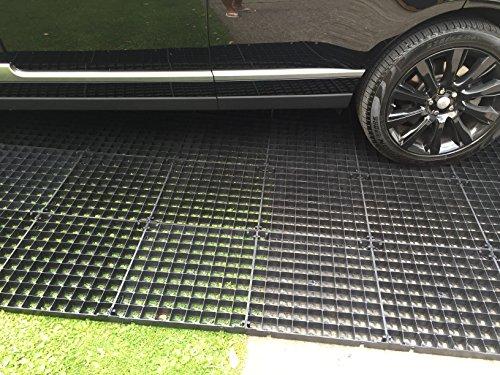 X20 Allée grilles Gravier Grille = 5 m² + MEMBRANE résistant Tissu anti mauvaises herbes – Grilles en plastique stabilité Eco pavés bases & Drive Grille de pavage poreux pour gazon et gravier grilles