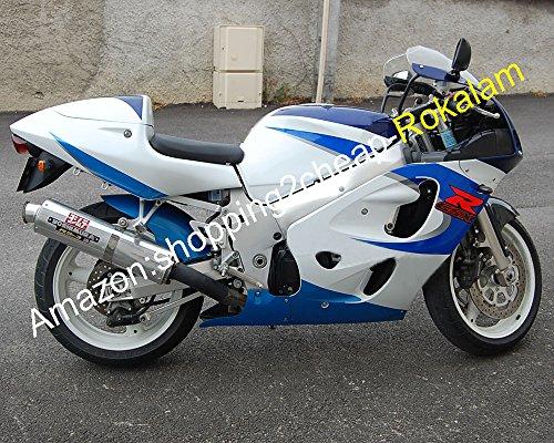 Hot Sales, Bleu Blanc Carénage Lot Srad Gsxr600 V-Strom 1996 1997 1998 1999 GSXR 600 750 Marché kit Carénages de moto