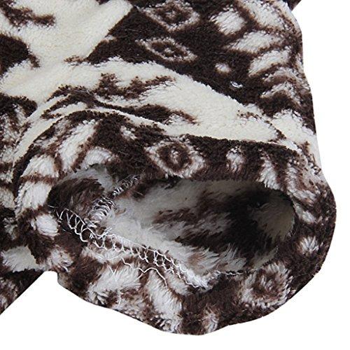 Sweatshirt Mit Kapuze Hund Flauschigen Mantel Overall W / Rentier Und Schneeflocke – Größe Xs - 6